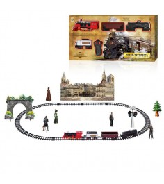Железная дорога ретро экспресс свет звук дым 1Toy т10578