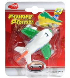 Самолет Dickie белый с зеленым 3345475