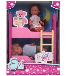 Кукла Еви с братиком и двухъярусной кроваткой, 12см 5733847029