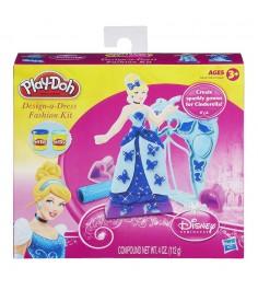 Детский пластилин play doh набор игровой дизайнер платьев принцесс дисней золушка a5419e24