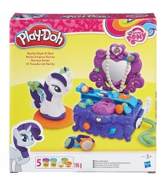 Игровой набор пластилина Hasbro Play Doh Туалетный столик Рарити B3400