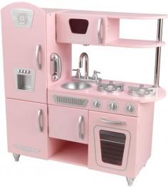 Деревянная кухня Kidkraft винтаж, цвет розовый 53179_KE
