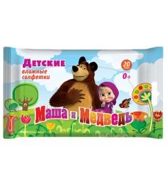 Детские влажные салфетки Маша и Медведь 20 шт