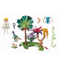 Супер4 Playmobil затерянный остров с Алиен и Хищником 6687pm