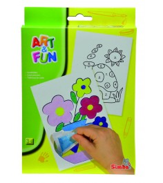 Набор для рисования цветным песком Simba Art Fun цветы и домик 6330378