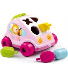 Сортер Smoby Автомобиль с фигурками розовый 211323