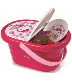 Набор посудки в корзине Smoby Hello Kitty 24084