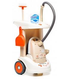 Тележка для уборки с пылесосом Smoby 24613