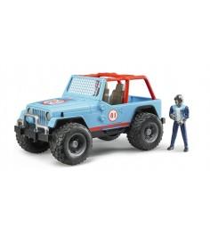 Джип Cross Country Racer Bruder синий с гонщиком 02-541