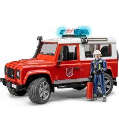 Внедорожник Land Rover Defender Station Wagon Пожарная с фигуркой Bruder 02-596...