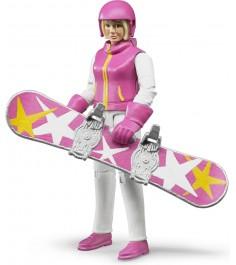 Фигурка сноубордистки с аксессуарами Bruder 60-420