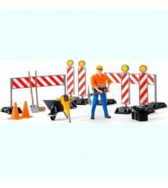 Набор дорожных работ с фигуркой Bruder 62-000