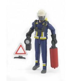 Пожарный с аксессуарами 107 мм Bruder 62-700