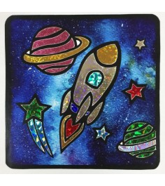 Аппликация из фольги космический корабль Color Puppy 95341