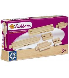 Дополнительный набор деревянного ж/д полотна Eichorn малый 100001408