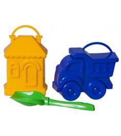 Набор формочек Можга Машинка и домик с совочком