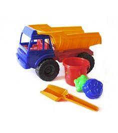 Набор для песочницы Степка грузовик лопатка две формочки и ведерко