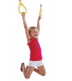 Пластиковые гимнастические кольца Можга желтые