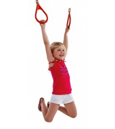 Пластиковые гимнастические кольца Можга красные
