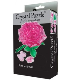 Crystal puzzle роза розовая 90213