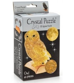 Crystal puzzle сова золотая 90247
