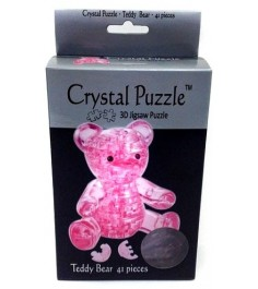 Crystal puzzle мишка розовый 90314