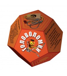 Набор головоломок додекаэдр оранжевый Новый формат 80325