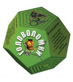 Набор головоломок додекаэдр зеленый Новый формат 80349