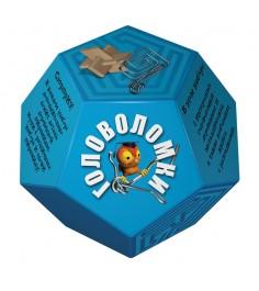Набор головоломок додекаэдр голубой Новый формат 80356