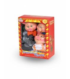 Кукольный театр Весна 4 персонажа с ширмой №2 артикул В2929