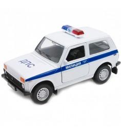 Модель машины 1:34 39 Lada 4x4 милиция дпс Welly 42386PB