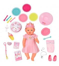 Кукла интерактивная нарядная с тортом 43 см Baby born 825-129
