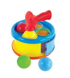 Развивающая игрушка сортер Жирафики бей в барабан 633053