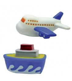 Набор игрушек для ванны Жирафики Самолёт и пароход 681265