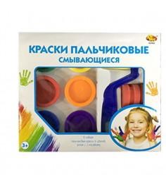 Пальчиковые смывающиеся краски 6 цветов ABtoys A2468