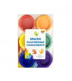 Смывающиеся пальчиковые краски 6 шт ABtoys A2752