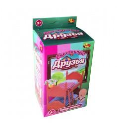 Игровой набор мебели для спальни Счастливые друзья с аксессуарами ABtoys PT-00303