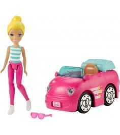 Кукла Barbie в движении автомобиль и кукла FHV77