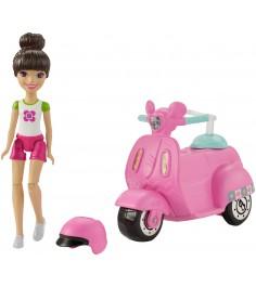 Кукла Barbie в движении скутер и кукла FHV80