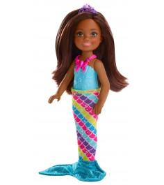 Кукла Barbie Челси фея русалка брюнетка FJD01