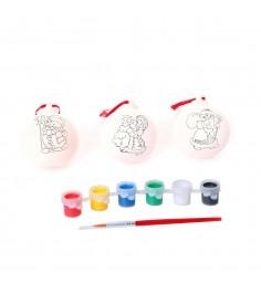 Набор для росписи досуг с буки елочные украшения Bondibon ВВ1040