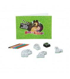 Набор для творчества со штампами маша и медведь создай свой мультик Bondibon ВВ1329