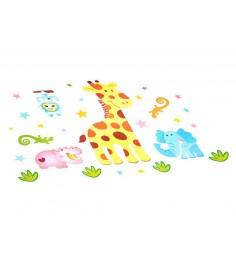 Наклейки для оформления детской комнаты жирафик Bondibon ВВ1507