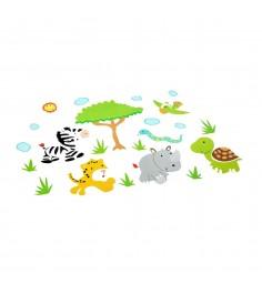 Набор наклеек для оформления детской комнаты звери Bondibon ВВ1511
