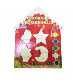 Набор для творчества елочные украшения 4 фигурки Bondibon ВВ1570