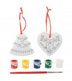 Набор для росписи фигурок елочные украшения елочка и сердце Bondibon ВВ1687