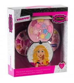 Набор детской декоративной косметики eva moda косметичка диск 3 уровня Bondibon ВВ2256