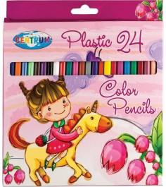Набор пластиковых цветных карандашей единорог 24 цвета Centrum 85393