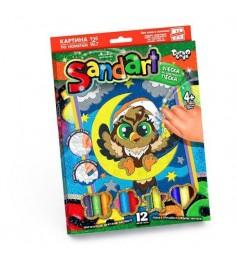 Фреска из песка sand art сова Danko toys SA-01-03