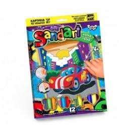 Фреска из песка sand art тачки 12 цветов Danko toys SA-01-01